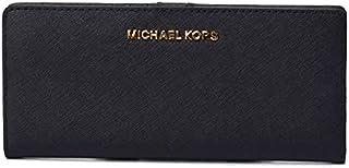 マイケルコース 財布 MK MICHAEL KORS レザー ジェット セット トラベル フラット スリム 二つ折り 長財布 ブラック 35S9GTVF8L