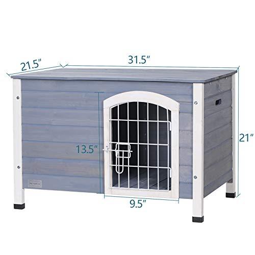 The Petsfit Indoor Wooden Dog House with Wire Door
