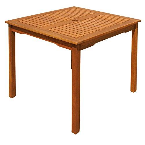 indoba Montana-quadratisch-Serie Montana-IND-70070-ST Gartentisch, braun, 85 x 85 x 74 cm