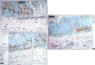 Inshore Keys, Marathon to Key West, FL - Laminated Nautical Navigation & Fishing Chart by Captain Segull's Nautical Sportfishing Charts | Chart # KW122