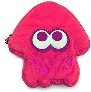 HORI Splatoon 2 Squid Plush Pouch (Neon Pink) Officially Licensed - Nintendo Switch