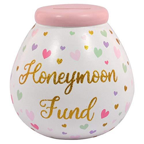 Honeymoon Fund Pots of Dreams Money Pot Save Up & Smash Money Box Gift
