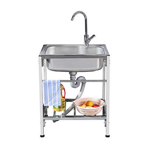 miaosss Fregadero para el hogar, un Solo tazón, Fregadero de Cocina antimoho, Resistente a la corrosión, Adecuado para Lavar a Mano, Herramientas, Limpieza, lavavajillasPackage A-58×43cm