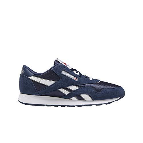 Reebok Classic Cl Nylon Zapatillas Moda Hombres Marino/Blanco - 35 - Zapatillas Bajas Shoes
