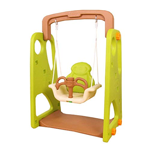 Children's Swing Activities Armrests Seat Baby Basket Safety Fun Lanyard Easy Installation XIUYU (Color : Lightgreen)