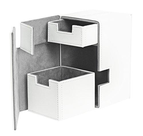 Ultimate Guard UGD010373 - Flip und Tray Deck Case 100+ Standardgröße Xeno Skin, weiß