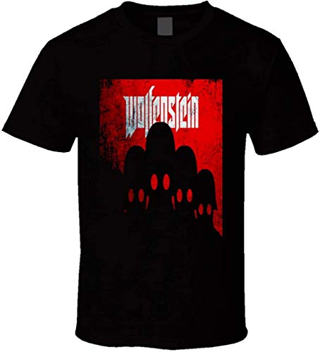 Wolfenstein Video Game Fan Shirt War Games X Box Playstation Gameboy t-Shirts,Black,Large