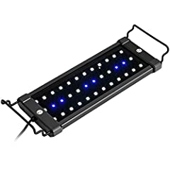 Super bright, energy-efficient and long-lasting LEDs promotes healthy, vibrant growth of fish and aquatic plants, to produce brilliant lighting to your aquascape Two lighting modes: White & Blue LEDs for daylight and Blue LEDs only for nightlight, cr...