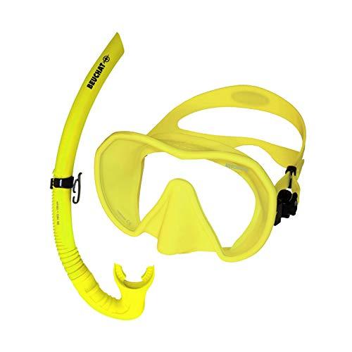 BEUCHAT Maxlux S Schnorchelset -Tauchmaske mit Spy Schnorchel, Farbe:Neon Gelb