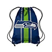 Proudly carry your belongings in this awesome drawstring backpack/bag with your favorite team's logo Classic drawstring design with gathered top to ensure items stay inside bag Hand made polyester construction Grommeted corners on the bottom secure t...