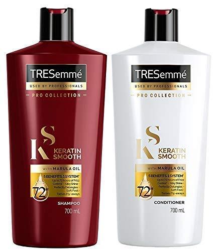 Tresemme Keratin Glatt XL Shampoo und Spülung - 700ml Jedes