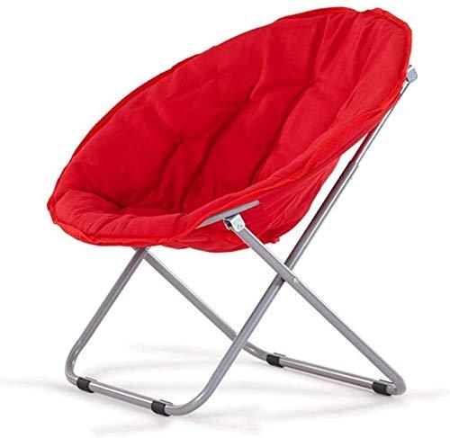 DFANCE Silla plegable ligera con platillo, silla plegable para el hogar, sillón reclinable para el hogar, sofá, tumbona, balcón, silla de luna (marco de metal)
