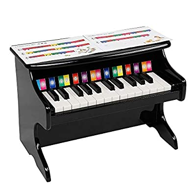 Wooden Toys: 25-Key Children's Wooden Piano...