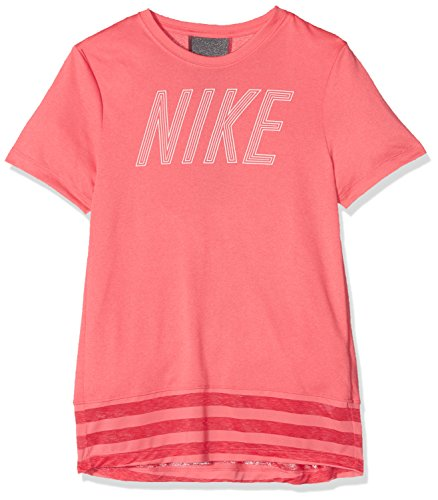 Nike Dry Top Core Maglietta, Ragazzo Bambino, Sea Coral/Dark Grey, M