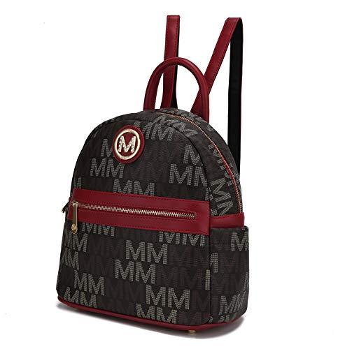 MKF Rucksack börse für Frauen & Teen Mädchen - PU Leder Top-Griff Damen Mode Reise Pocketbook Tasche - Daypack, Rot (Kennie Red), Large