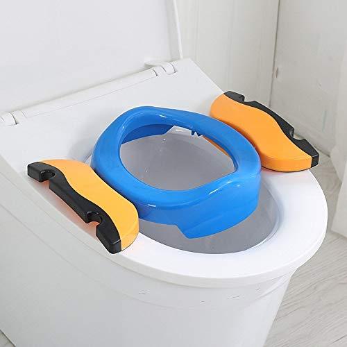 Faltbare Toilettensitze für Kinder/Baby, Tragbarer Reise WC Sitz, kinder-toilettensitz mit anti-rutsch-funktion, Kleinkind Töpfchentrainer von Colleer (Blau)