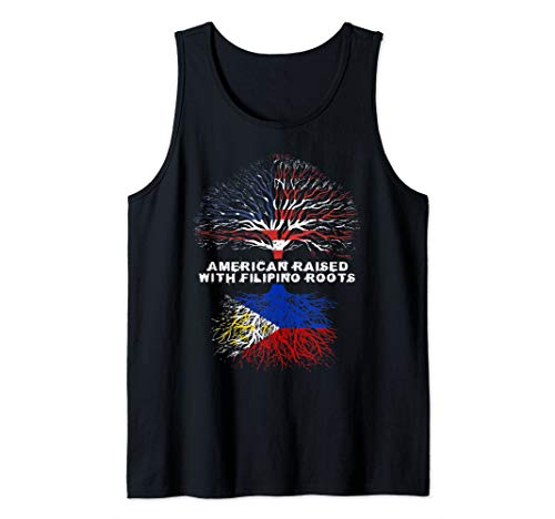 American Raised with Filipino Roots Philippines Pinoy Tank Top