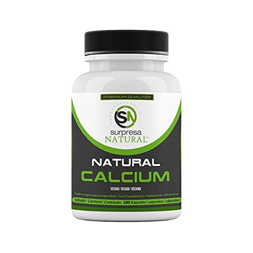 Surpresa Natural® - Natural Calcium - 180 hochdosierte Kapseln | 100% natürliches Kalzium aus der Rotalge, Calcium del Mar | Meeres-Kalzium | für starke Zähne, Knochen und Nerven