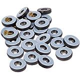 Filzada® 26x Teflongleiter zum Schrauben - Ø 22 mm (rund) - Möbelgleiter/Teppichgleiter PTFE (Teflon) inkl. Schrauben