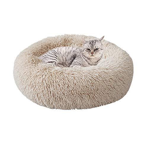 Urijk Cama redonda para mascotas, cama para gatos, cama para perros, sofá para gatos, cama para gatos, cama para perros, cama para perros, cama para gatos, mullida, felpa, suave, cojín para dormir