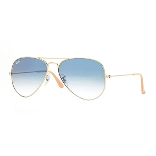 8fe412e989e7ae Ray-Ban RB3025 Aviator Large Metal Gradient Unisex Sunglasses (Gold  Frame Crystal Gradient