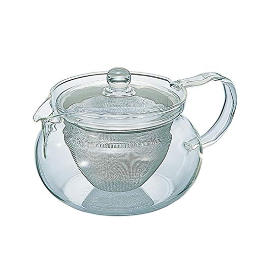 Hario Green Tea All Glass Tea Pot Japanese Cha Cha Kyusu Maru 450ml (japan import)