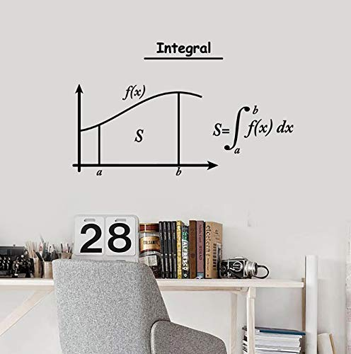 xingzhi Integral Mathematik Wandtattoo Symbole Mathematik Schule Klassenzimmer Innendekoration Vinyl Fenster Aufkleber Student Arbeitszimmer Wandbild 42X68 cm