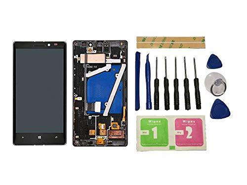 Flügel für Nokia Lumia 930 Display LCD Ersatzdisplay Schwarz Touchscreen Digitizer Bildschirm Glas Komplett Einheit mit Rahmen Ersatzteile & Werkzeuge & Kleber