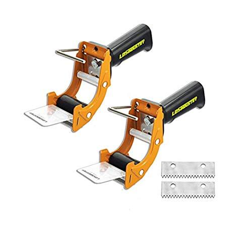 LDS Industry Porta cinta de embalar para fácil utilización en trabajos de empaquetado, mango ergonómico Pistola dispensadora de cinta de embalaje de gran calidad (2pcs)