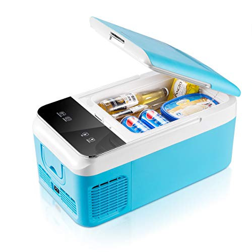Car Fridge Portable Freezer (16 Quart), 12V Fridge, -4°F~50°F, DC 12V and AC 110V Compatible, for...
