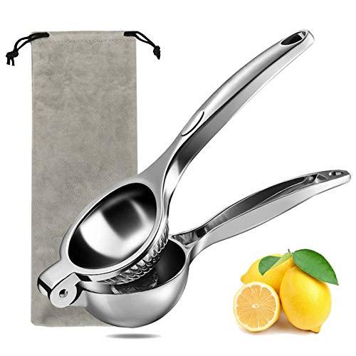 iFoxtEK Zitronenpresse & Zitruspresse, Citruspresse mit Aufbewahrungstasche, Limettenpresse für Orangen, Zitronen usw, Handpresse Entsafter Rost- und Korrosionsschutz, Ergonomie und Langlebig