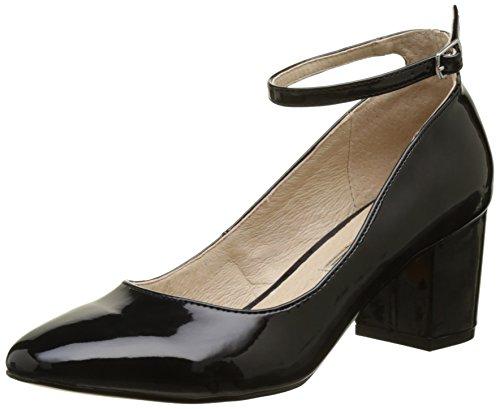 Buffalo Shoes Damen 15P54-1 PU PATENT Pumps, Schwarz (Black 01), 37 EU
