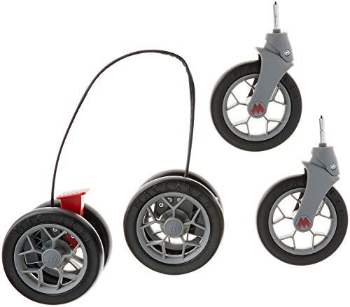Maclaren, techno xt ruedas delanteras y traseras negro / plateado, unisex