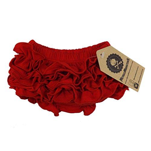 Bombachos con olanes rojos de la marca Metallimonsters rojo rosso Talla:6-24 months