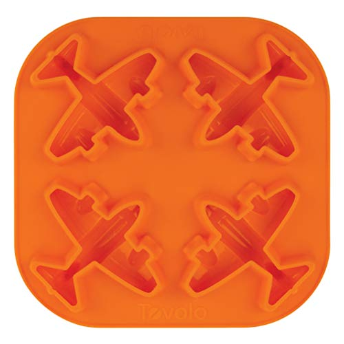 Tovolo Novelty Airplane Ice Cube Mold Trays, Flexible Silicone, Dishwasher Safe