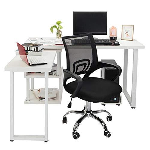Ergonomischer Schreibtischstuhl, Höhenverstellbarer Drehstuhl, Bürostuhl bis 150kg/330LB Belastbar (Stil 1)