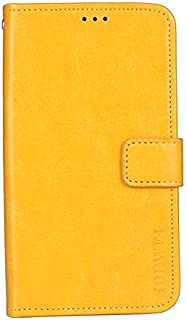 CASE BOX Vodafone Smart N10 Phone Case,Flip wallet with card slots cover for Vodafone Smart N10(Yellow)