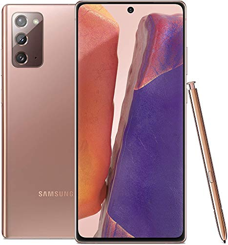Samsung Galaxy Note20 5G Android Cell Phone | US Version | 128GB of Storage | Mobile Gaming Smartphone | Long-Lasting Battery | Mystic Bronze for Verizon (Renewed)