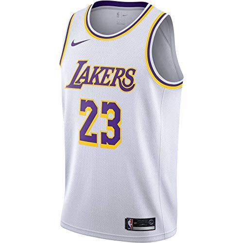 Nike Herren Lal M Nk Swgmn JSY Home Unterhemd, weiß/gelb/Feld lila/James Lebron, M