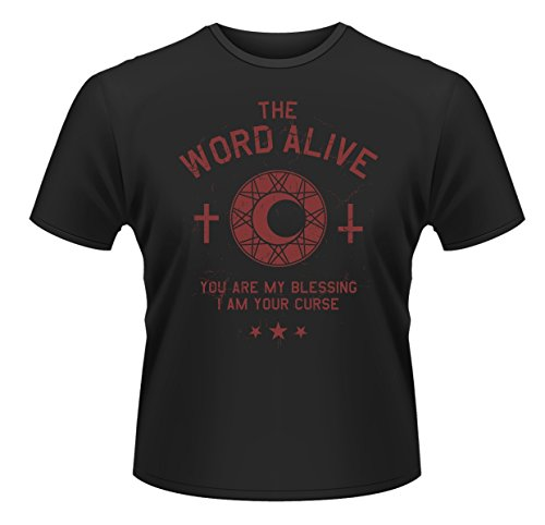 Plastic Head Herren Word Alive, The Curse T-Shirt, Schwarz, XL