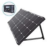 Renogy 100 Watt Eclipse Monocrystalline Charge 20A Voyager Waterproof Controller Solar Suitcase, 100W-Waterproof