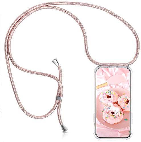 Handykette kompatibel mit Xiaomi Mi Mix 3 5G Hülle Silikon - Handy Hülle mit Kordel zum Umhängen - Smartphone Necklace Hülle Transparent Silikon Handyhülle Hülle mit Kette zum umhängen