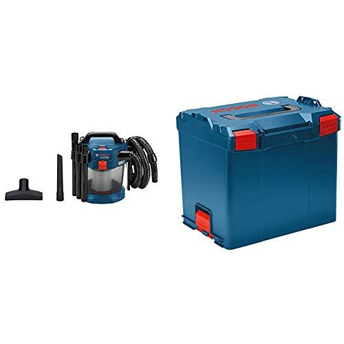 Bosch Professional 18V System Akku Staubsauger GAS 18V-10 L (ohne Akkus und Ladegerät, 1,6 m Schlauch) & Koffersystem L-BOXX 374 (Ladevolumen: 45,7 Liter, max. Belastung: 25 kg, Gewicht: 2,4 kg)