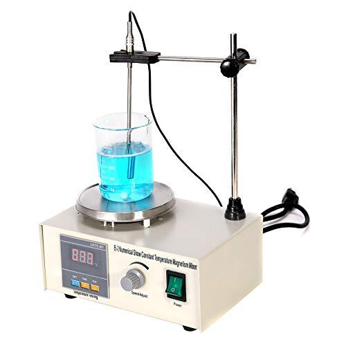 CO-Z Magnetic Stirrer, Magnet Stirrer with Digital Temperature Display & Speed Adjusting, Magnetic Mixer with Hot Plate & Magnetic Stirrer Bar, Home Lab Homebrew Kitchen Stirrer, 200W, 1000ML.