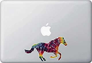 Yadda-Yadda Design Co. Rainbow Tie Dye Horse Leaping - Laptop | MacBook | Computer - Vinyl Decal Sticker YYDC (6