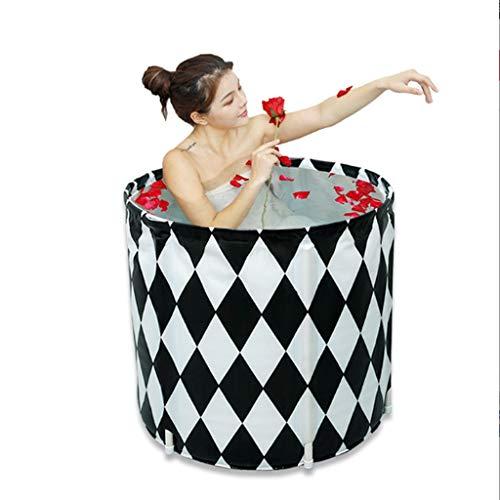 GLokpp beweegbare opvouwbare badkuip inweken badkuip vrijstaand badkuip van kunststof Bade Tub voor douchecabine, dikking met thermoschuim op temperatuur