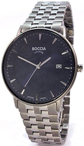 Boccia Herren Digital Quarz Uhr mit Titan Armband 3607-03