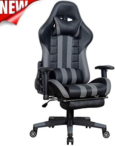 Silla de Oficina Gaming Chair, silla ergonómica giratorio respaldo alto reclinable ordenador, transpirable Silla de oficina dormitorio, apoyo for la cabeza del amortiguador lumbar ( Color : 2 )
