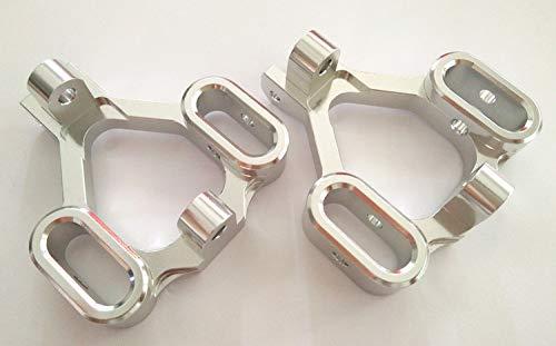 CrazyRacer Aluminum F/R C Hub C-Hubs -1PR Silver for HPI Savage X XL 21 25 SS 4.6 5.9 Flux 85048