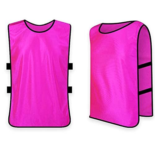 Markierungshemden, 1pc Team Training Westen Scrimmage Pinnies Westen Für Basketball Fußball Kinder Erwachsene Rose Red XL